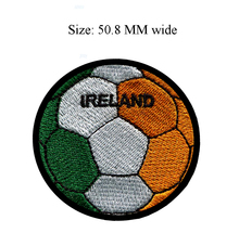 Soccer Ball Ireland embroidery patch 50.8 MM wide / applique/ badge/popular sticker(China)