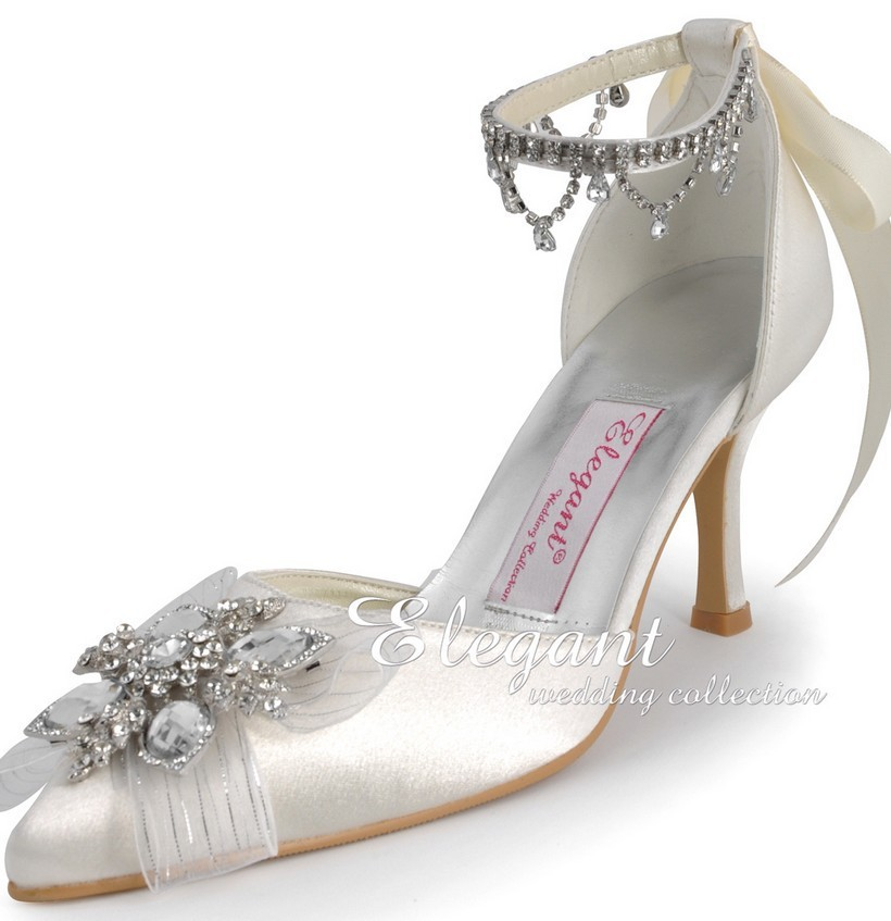 Wedding shoes satin custom made high heel pumps bridal shoes ladies evening party shoes Pumps<br><br>Aliexpress