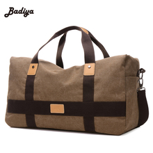 Mens Travel Bags Large Space Canvas Patchwork Men Tote Bags European Style Travel Duffle Bags(China)