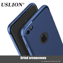 USLION Candy Color Slim Phone Cases For iPhone 7 Luxury Soft TPU Silicon Case Back Cover Capa Coque Fundas For iPhone7 6 6s Plus
