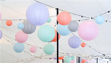 6/8/10/12/14/16inch Mixed Sizes Decorative Round Rice Paper Lantern Lamp Hanging Baby Shower Wedding Anniversary Festival Decors(China)