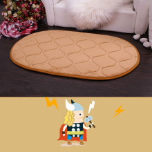 Free Shipping New Korean Oval Memory Foam Carpet Chair Cushion Doormat Khaki Absorbent Non-Slip Prayer Mat 4 Sizes(China)