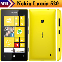 Nokia Lumia 520 mobile phone Unlocked 520 mobile phone Windows OS Dual core 8GB ROM 5MP GPS Wifi Singapore Post Free Shipping(China)