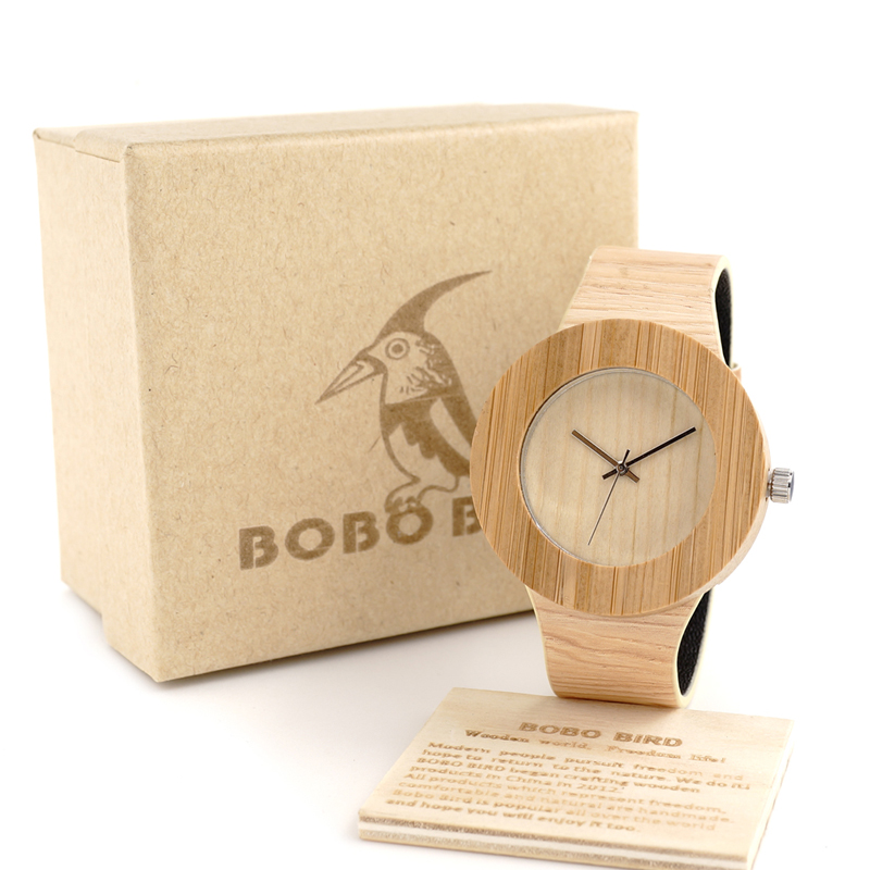 BOBO BIRD Cylinder Bamboo Wooden Wristwatch Mens Round Wood Design Japan 2035 Movement Quartz Watch with PU strap in Gift Box<br><br>Aliexpress