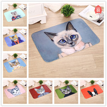 Cartoon Animals Style Floor Mats Cat Dog Printed Carpets Anti-slip Rugs Bathroom Kitchen Carpets Doormats for Living Room Gift