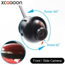 XCGaoon mini CCD 140 Degree Wide Angle Real Waterproof Car Front Side View Camera, 4 Layer Glass Lens, No Guiding Line
