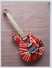 Newest Arrival Edward Van Halen EVH Wolfgang Electric Guitar Red & Black Stripes China Guitar Factory In Stock Free Shipping(China)