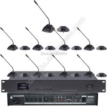 Pro 1 Host 1 Chairman 16 Delegate High-end Wired Conference Microphone System Classical MIC for Meeting Room