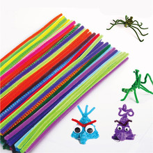 100pcs Colorful Chenille DIY Handmade Sticks Art Decoration Various Simulation Plush Animal Plant Toys for Kids Christmas Gift(China)