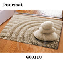 Free Shipping beautiful stone Zen stone Custom Doormat Home Decor Bedroom Carpet Classic Durable Floor Mat SQ0630-Y7634(China)
