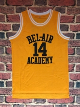 The Fresh Prince Of Bel Air Academy Jersey #14 Will Smith Black Yellow Mens jersey All Stitched(China)