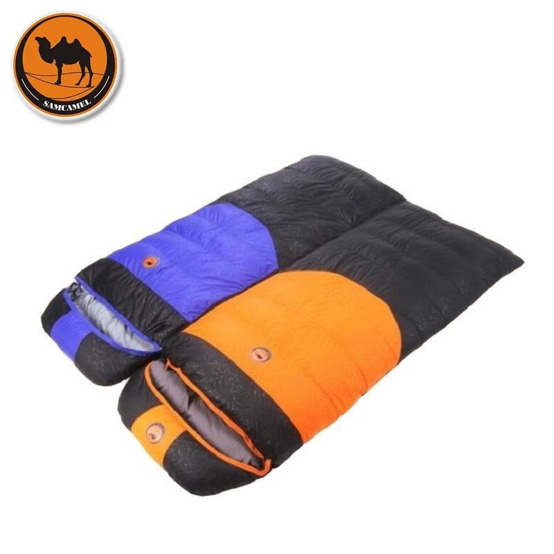Camcel Uultralight Camping Sleeping Bag Camping Accessories Envelope Duck Down Sleeping Bag Adult winter Sleeping Bag 1900g<br>