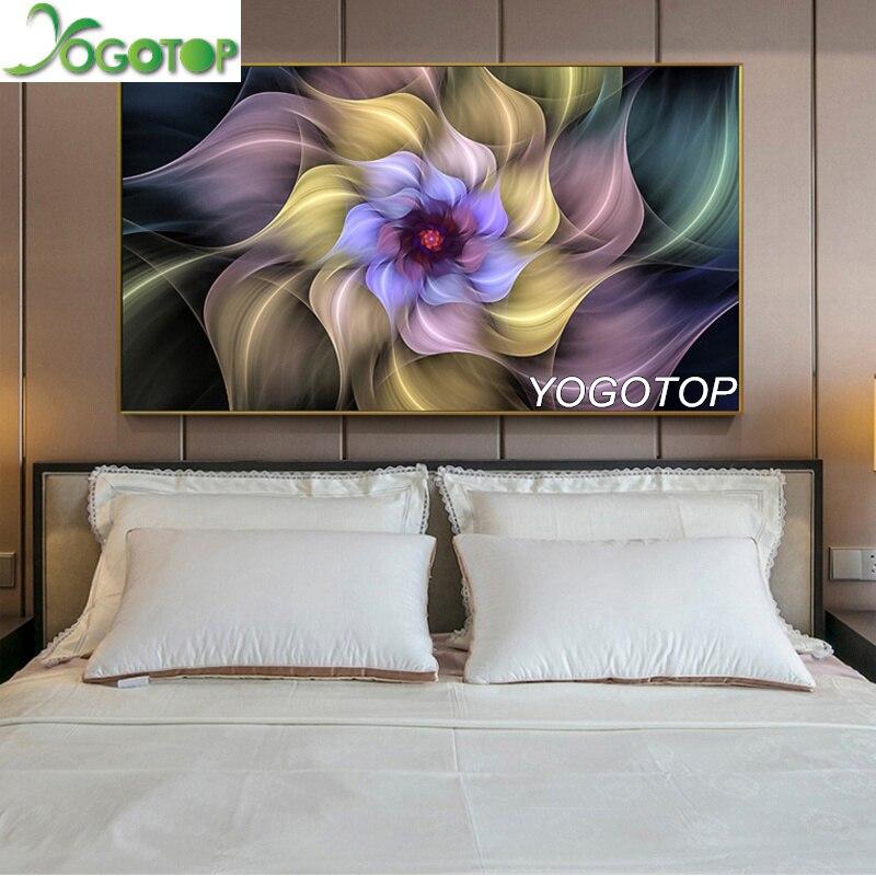 5D DIY Full Drill Diamond Painting Flower Embroidery Mosaic Kits Bedroom Decor