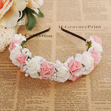 Fashion Flower Bridal Wedding Hair Accessories Headband Hairband Wedding Prom Hair Accessories Garland Floral Gift VBY22 P0.00