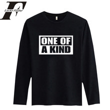 2017 ONE OF AKIND Fashion Black Tshirt BigBang kpop Long Sleeve Men Women Hing Quality t-shirt Summer Print White Cotton Tees(China)
