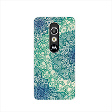 17534 Blue Lotus Pattern Mandala cell phone case cover for For Motorola Moto G3 G4 X+1 PLAY PLUS ONE style