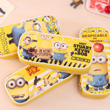 PU Leather Cartoon Pencil Case Big Capacity Pen Bag Boxes Boys Girls School Supplies Multifunction Stationery Escolar Papelaria