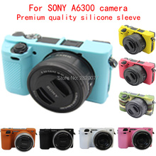 Flexible Silicone Camera Case Protective Cover Skin for Sony A6000 A6300 with 16-50mm lens,Free Shipping