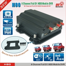 SD/SSD/HDD 4G free client software h.264 dvr, 8ch hdd vehicle car dvr,H80-4G
