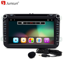 "Junsun 8"" 2 Din Android 6.0 Car DVD Player For VW/Volkswagen/POLO/PASSAT/Golf/TOURAN/SHARAN Quad Core GPS BT WIFI 1024*600 Radio"