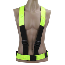 Buy Cycling Vest Multi Adjustable Outdoor Safety Visibility Reflective Vest Gear Stripes EA14 for $5.37 in AliExpress store