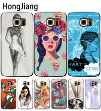 HongJiang The Girl With Wine Glass Design cell phone case cover for Samsung Galaxy A3 A310 A5 A510 A7 A8 A9 2016 2017(China)