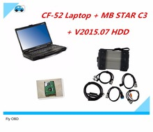 mb star c3 for Mercede Benz CF52 diagnostic computer 2G used High Quality For Panasonic Toughbook CF-52 laptop with V2015.07 HDD