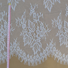 Italian exports of high-end eyelash lace fabric suitable for dress clothing DIY wedding dress fabric