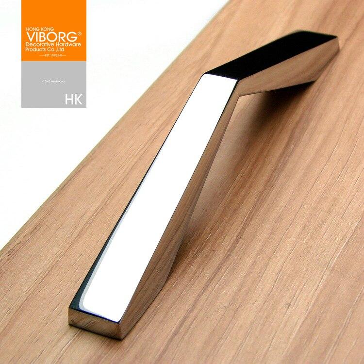 4 pieces 100mm viborg modern cabinet cupboard door handles pulls