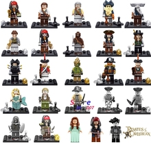 Single Captain Pirates of The Caribbean Jack Sparrow Elizabeth Mermaid David building blocks models bricks toys for children kit(China)