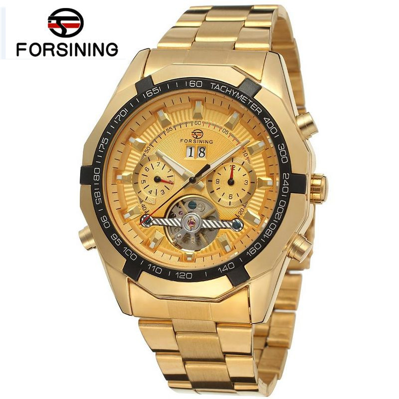 2017 Forsining Watch Mens Orologio Uomo Day/Week/Month Tourbillion Watches Wristwatch Gift Box Free Ship<br>