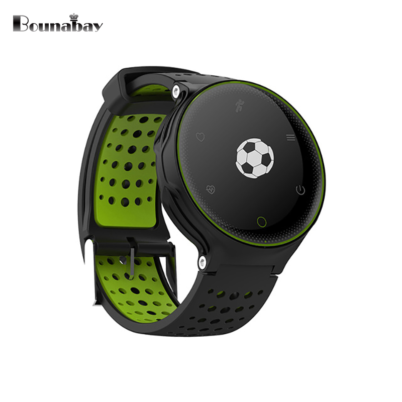 BOUNABAY Heart Rate Monitor Pedometer Bluetooth Smart man watch for apple android phone Camera Clock Touch Screen mans Clocks<br>