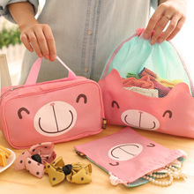 4pcs/set Cute Korean Travel Storage Bag Set Clothes Shoes Storage Case Makeup Cosmetic Wash Bags Packing Organizer  B15