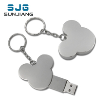 USB flash drive heart fashion16GB 8GB 32GB 4GB 64GB silver metal pendrive flash memory stick pen drive usb stick disk hot sale(China)