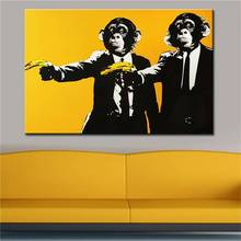 Andy Warhol Banana Monkey Wall Pictures Creative Oil Painting Print Canvas Top Idea Decor Wall Art For Wall Painting No Framed