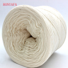 250g/pc White Non Bleached Original Ecology Healthy Cotton Knitted Yarn Baby Natural Soft Yarn for Crocheting Knitting(China)