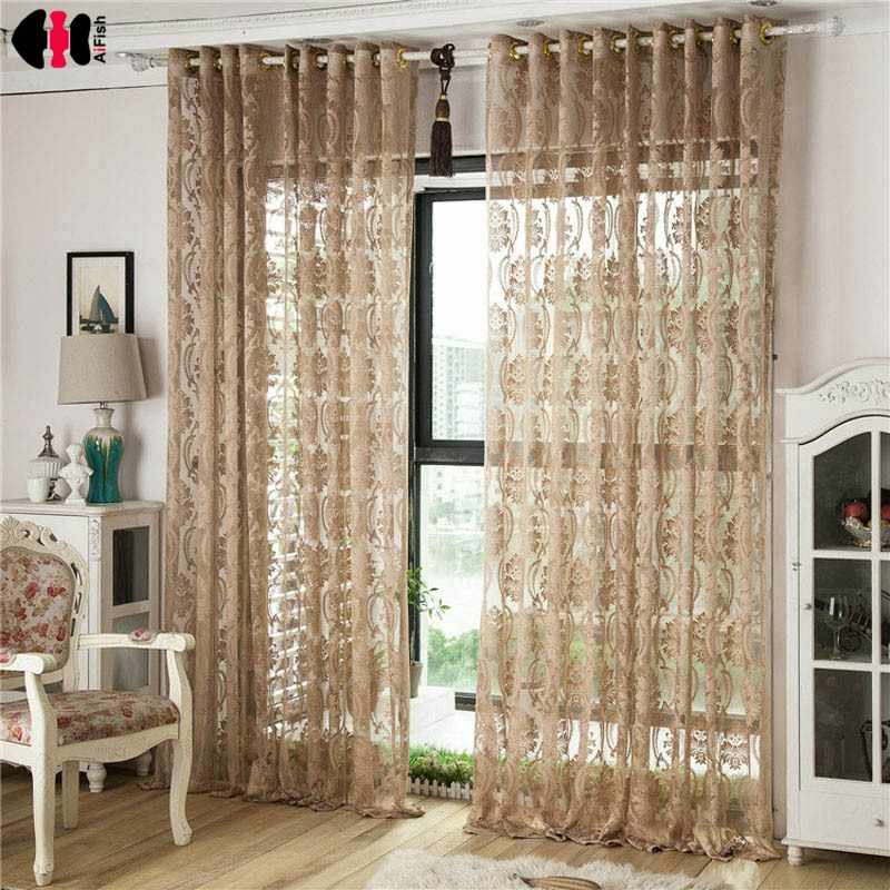 European Luxury Wedding Room Sheer Tulle Blinds For Living Room Bedroom Curtains For Window Treatment Drapes WP100D