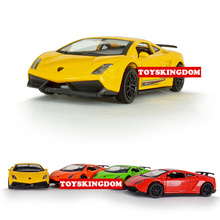 Hot 1:36 scale wheels diecast cars germany famous brand bull logo Gallardo metal model pull back alloy toys with light and sound(China)