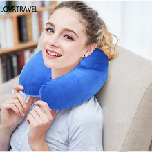 Travel Accessories Comfortable Pillows for Sleep Home Textile Air Cushion Travel Pillow for Airplane Inflatable Neck Pillow(China)