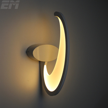 Shark Fin Led wall Lamp 380*160*155mm 15W Aluminum Acrylic Modern Home Lighting Wall Lamp Bedside Reading Sonces Stair GWL037