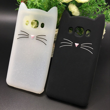 New Japan Cute 3D Glitter Beard cat soft silicon phone case For samsung galaxy j510 j3 j7 j5 2016 j710 Cartoon Coque back cover(China)