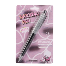 Promotion Fancy Toy Ball Point Pen Shocking Electric Shock Toy Gift Joke Prank Trick Fun Hot(China)