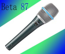 3pcs Free Shipping !!High Quality Dynamic Capsule BETA87A !! Beta 87A Supercardioid Vocal Microphone With Amazing Sound !(China)