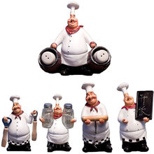 Cute Resin Figurine Creative Figurines Chef Crafts European Style Kitchen Home Decor Wedding Friends Gift Photography