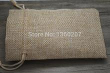 5pcs/ 10*14cm,natural colour Jute Bag Drawstring Gift Bag Incense Storage Linen Bag Cosmetic Jewel Accessories Packaging Bag