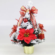 Mini Gold Christmas Tree DIY Home Party Decor Desk Table Decoration Xmas Ornaments Gift Red Blue(China)