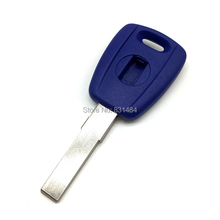 20pcs/lot All new replacement chip key blank for fiat 500 transponder key shell with logo fiat key case