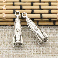 10pcs Charms rocket spaceship 24*9*9mm DIY Retro Jewelry Braclet Necklace Antique silver pendant(China)