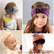 Retail  Flower Headband  Turban Cotton Knit Headband Hair Accessories