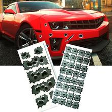 1PCS 3D Bullet Hole Car Stickers Styling Accessories Motorcycle Sticker Decals Car Styling